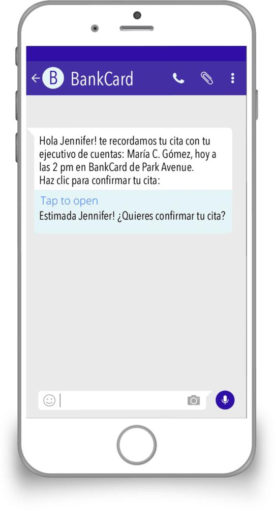 nbsp| SMS Enriquecido Recordatorio de cita