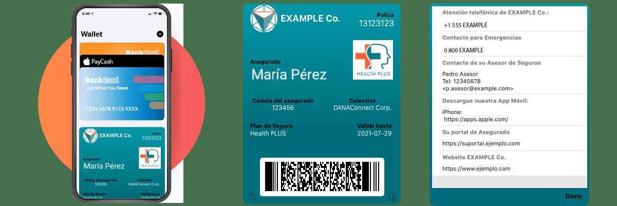 Carnet digital de asegurado para billetera digital - Solucion ewallet para seguros