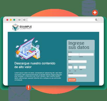 Solución de landing page con formulario de captación de leads